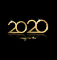2020 happy new year with gold texture isolated vector image vector image
