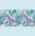 abstract seamless pattern with winter forest vector image