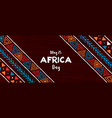 africa day banner traditional african art vector image vector image