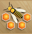 bee and honeycomb on a tree vector image