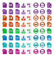 big collection icons file format vector image vector image