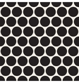 Black dotted seamless geometric pattern vector image vector image