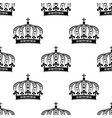 Black royal crown seamless pattern vector image vector image