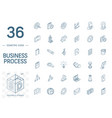 business and management isometric line icons 3d vector image vector image