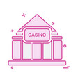 casino icon design vector image vector image