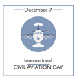 Civil Aviation Day vector image vector image