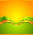 Colorful abstract background with waves vector image vector image