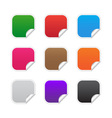 Colorful square labels vector image vector image