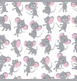 cute baby mouse seamless pattern adorable toddler vector image vector image