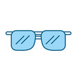 cute blue sunglasses cartoon vector image vector image