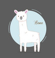 cute hand drawn llama for baby girl simple cute vector image vector image