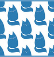 cute little cat seamless pattern hand vector image vector image