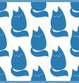cute little cat seamless pattern hand vector image