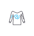 dirty laundry linear icon concept dirty laundry vector image vector image