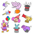 doodle element circus colorful style vector image vector image