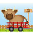 Farm cow vector image