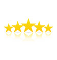 five stars rating and ranking concept vector image vector image