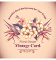 Floral Vintage Card with Exotic Flowers vector image