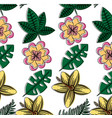 flowers natural decoration exotic seamless pattern vector image vector image