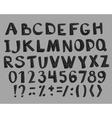 Fun fashion font vector image vector image