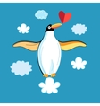 Funny penguins in love vector image vector image