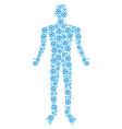 gear human figure vector image vector image
