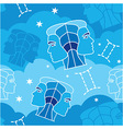 Gemini - Zodiac seamless pattern vector image vector image