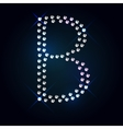Gems B letter Shiny diamond font