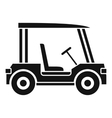 Golf club vehicle icon simple style vector image vector image