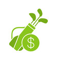 golf equipment shop glyph icon vector image vector image