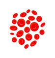 group of different erythrocytes red blood cells vector image