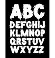 grunge font alphabet vector image