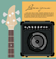 guitar and speaker vector image vector image