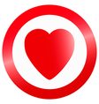 heart in circle vector image vector image