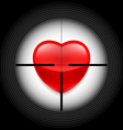 Heart in rifle sight vector image vector image
