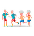 jogger old people jogger couple active vector image