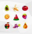 juicy abstract fruits vector image