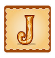 letter j candies vector image
