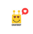 lover yellow chatbot icon vector image vector image