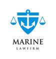 marine law firm logo vector image