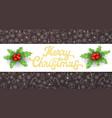 merry christmas golden glitter xmas lettering vector image