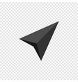 navigation arrow icon isolated vector image vector image