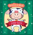 newborn baby postcard vector image