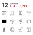 pack icons vector image vector image