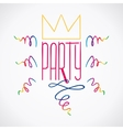 Party Handdrawn Poster 5 vector image vector image