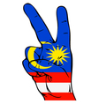 Peace Sign of the Malaysian flag vector image vector image