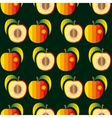 Peaches Seamless background vector image vector image