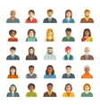 People faces avatars flat icons vector image vector image