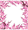 plum blossom branches square frame vector image