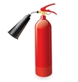 Red metal glossiness fire extinguisher vector image vector image